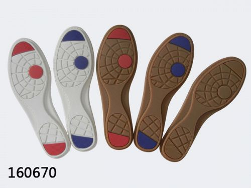 Non slip rubber soles