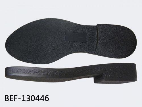 Natural rubber soles