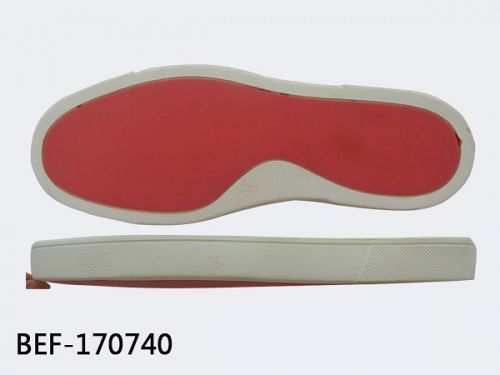 Shoe sole type of rubber